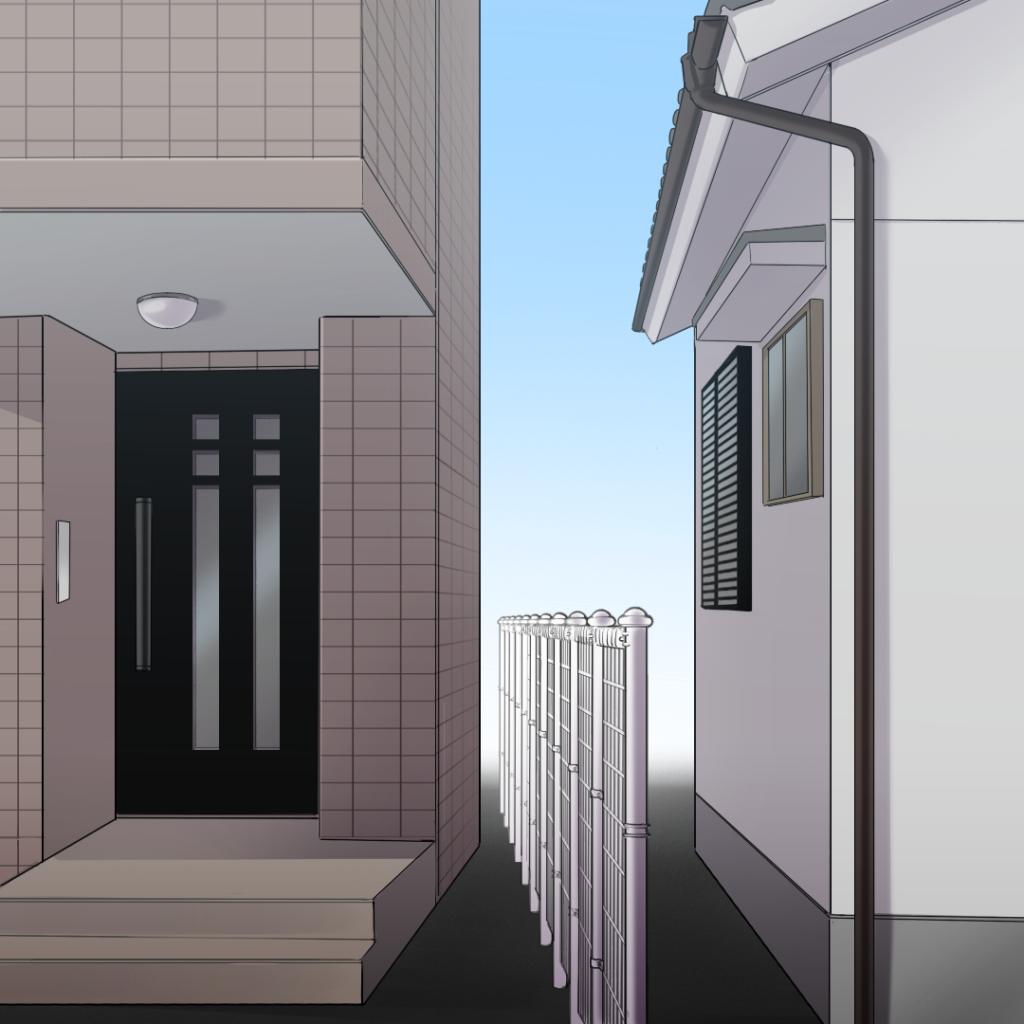 住宅イラスト右側